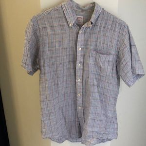 Brooks brothers linen short sleeve button down